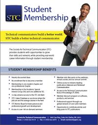 STC 2016 Student Membership Flyer