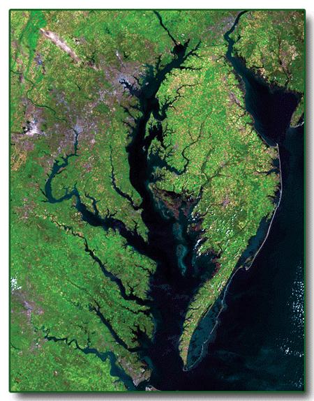 Landsat 5 image of Chesapeake Bay area