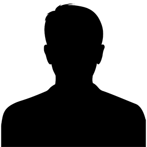 Male silhouette for missing photo